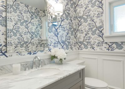Stylehaven Interior Design - Vancouver Character Addition & Renovation - Powder Room